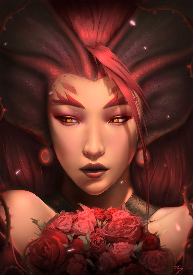 (Zyra) Feel The Thorns Embrace by Casper Hansen