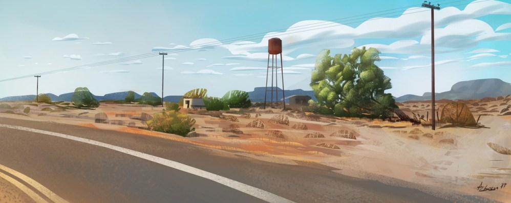 Digital Plein Air Painting 2 by aris falegos