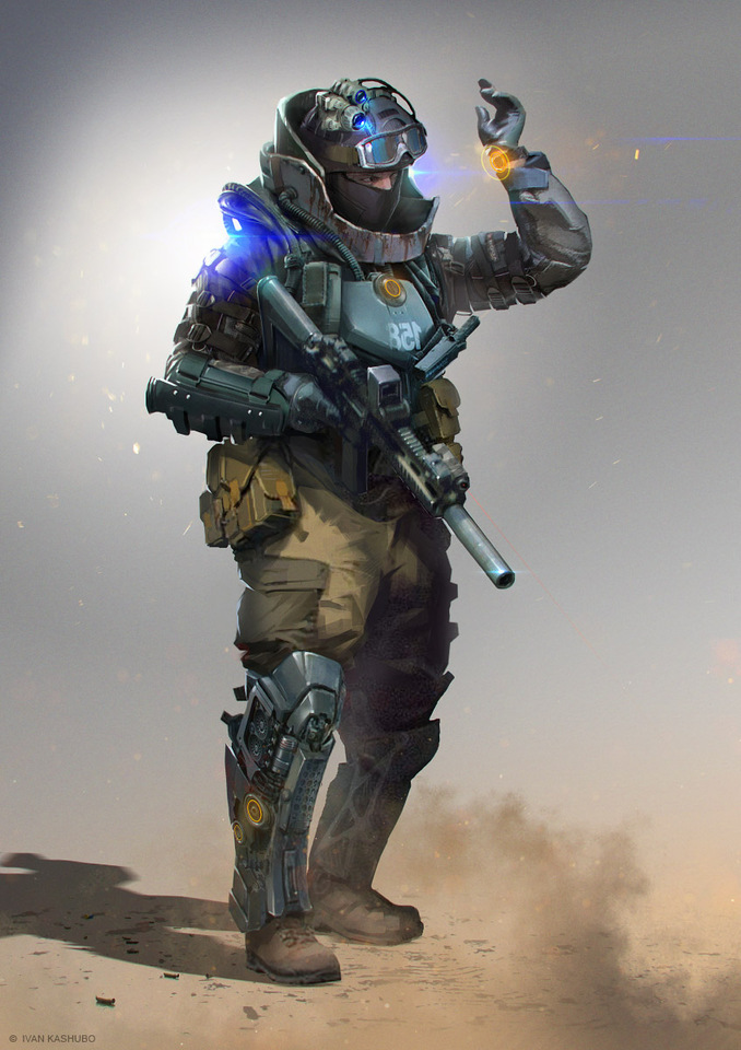 Soldier Concept by Ivan Kashubo