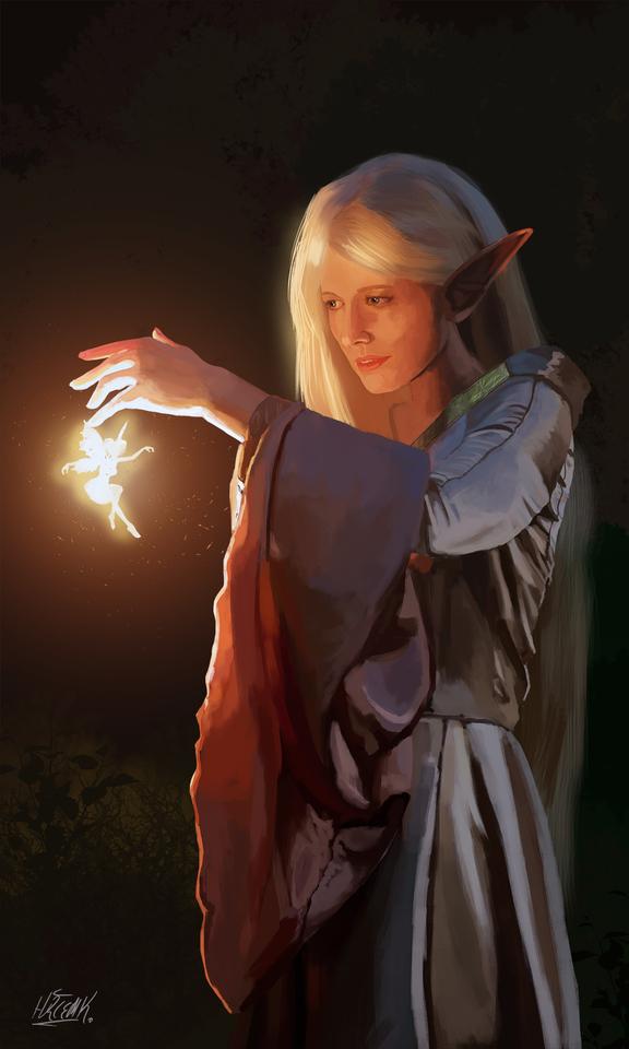 Wood Elf And Fairy by Hurcem Kucukdogan