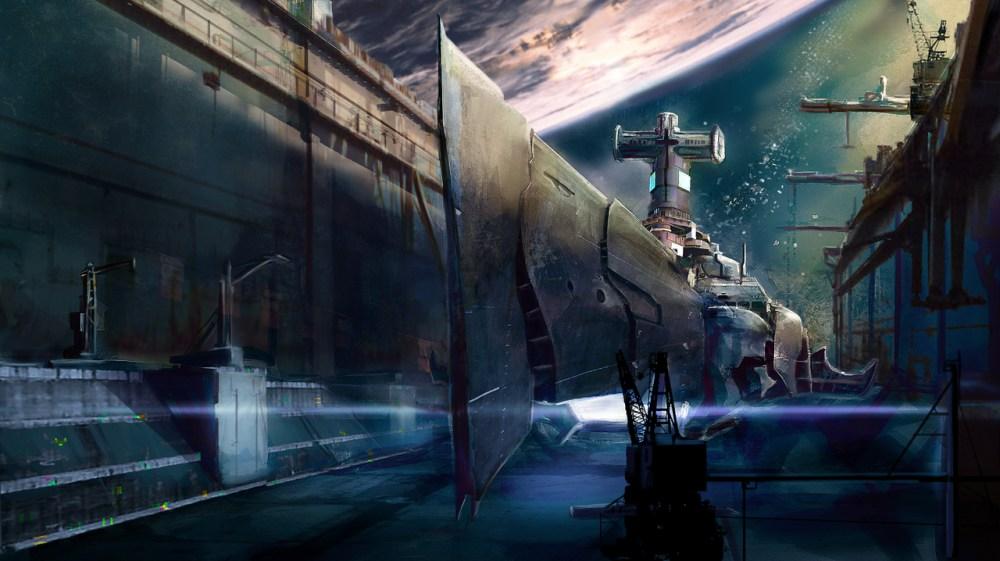 Space Shipyard by Edouard Noisette