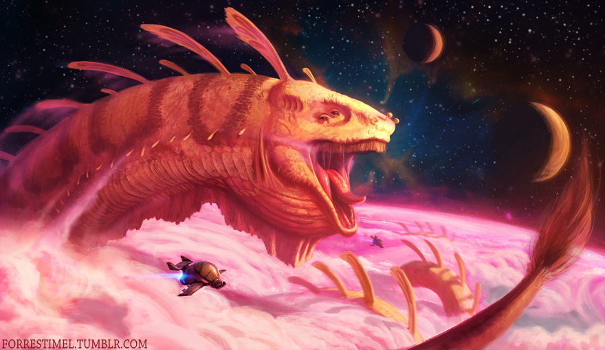 Space Dragon by Forrest Imel