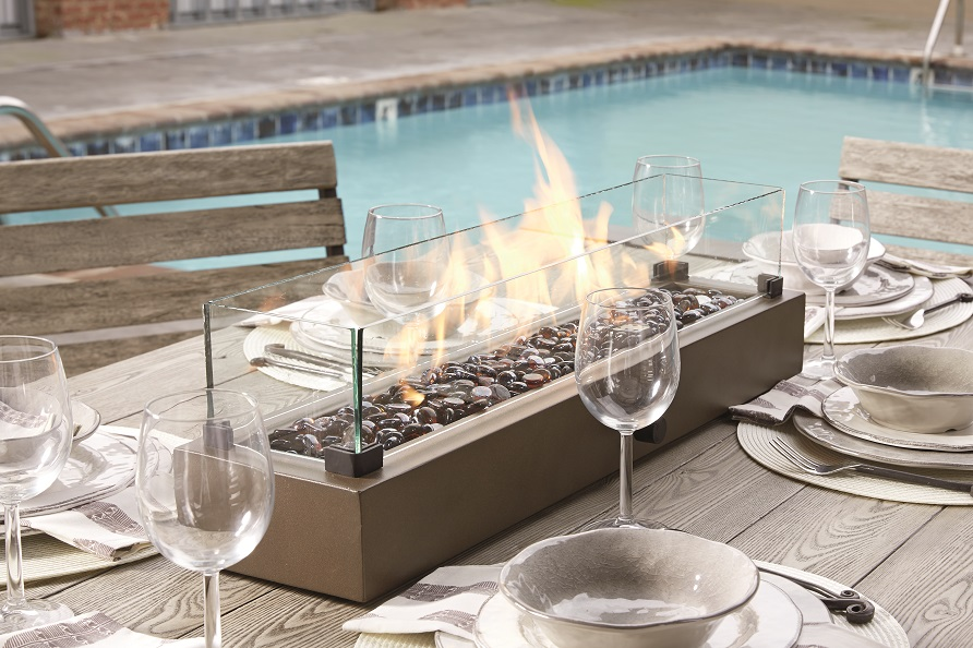 fire table glass