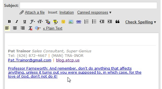 Adding an Email Signature in GMail with RSS \u2013 The Sales Engineer