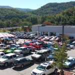 Overhead view of our 3rd annual Disabled American Veteran's car show from the roof of Waynesville Chevrolet Buick 3