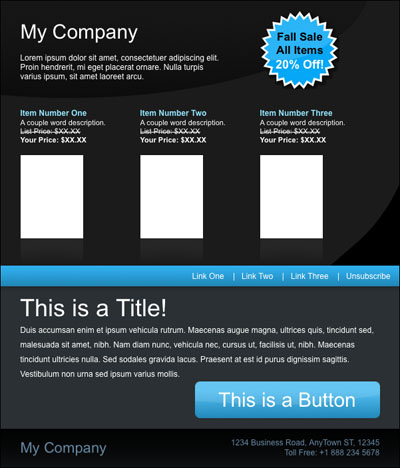 Free HTML Email Template Malibu - Email Marketing Tips