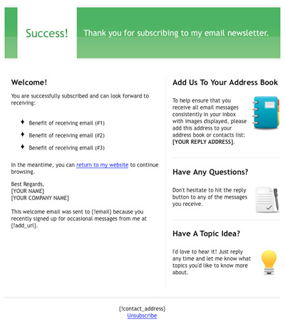 Free HTML Email Template - \