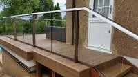Glass balustrade decking