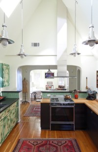 Railroad Era Pendant Lighting for High Ceiling Kitchens ...