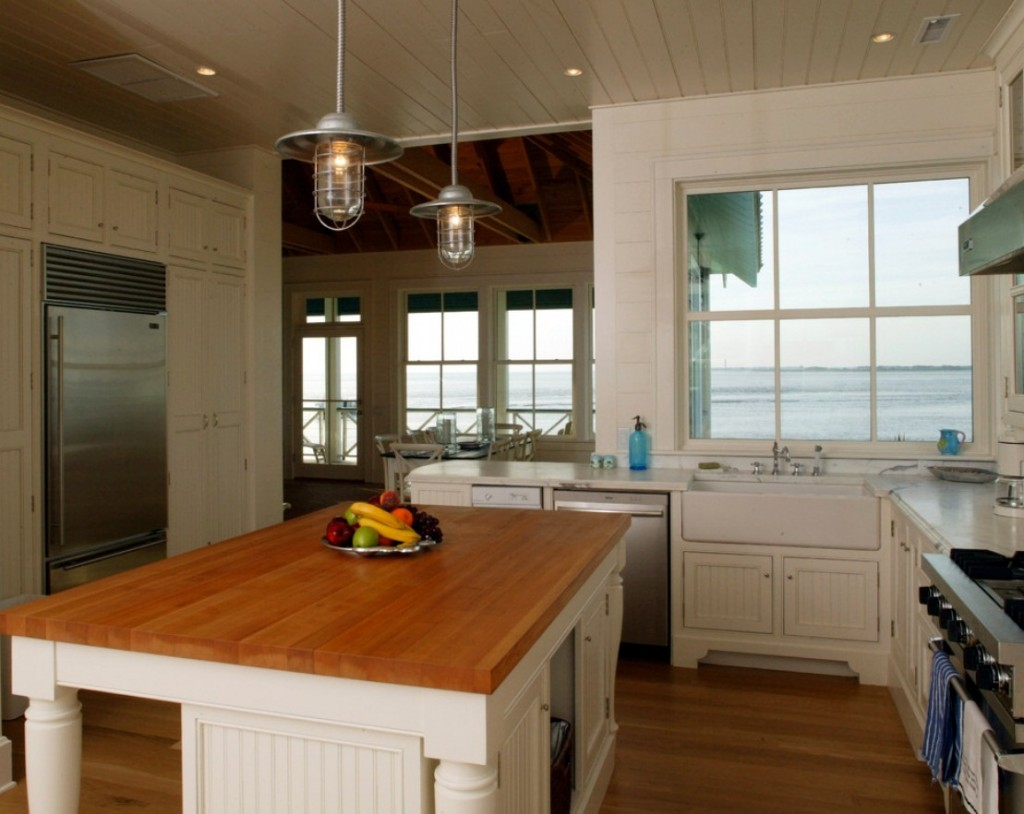 Rustic Pendants for a Coastal North Carolina Beach House