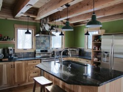 Catchy Rustic Home Green Builder Gets Rusticlook Porcelain Rustic Home Green Builder Rustic Log Home Kitchen Cabinets Rustic Mountain Home Kitchens