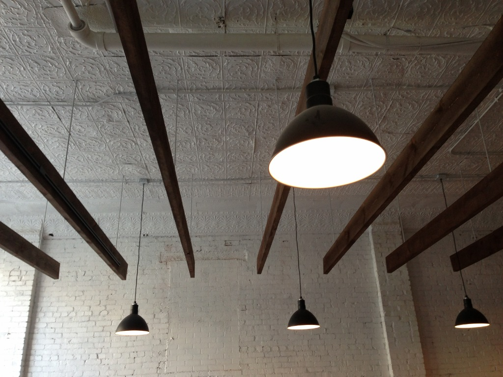 Deep Bowl Pendants Add Industrial Feel to Classic
