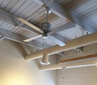 Vintage Ceiling Fans Cool Office Space with Style