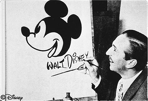 Walt Disney Drawing Mickey