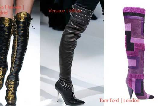 Knee Boots Fall-Winter 2013-2014| Botas Rodilleras Otoño-Invierno 2013-2014 Shoes Zapatos Calzado. BCBGMAXAZRIA. New York | Maya Hansen. Madrid | Versace. Milano | Tom Ford. London | Chanel. Paris