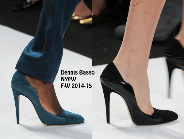 Pumps in black and blue | Salones en azul y negro
