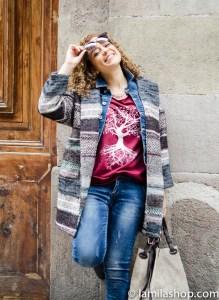Wool Coat, Jeans, Brown Bag and Sunglasses | Abrigo de Landa, Jeans, Bolso Marrón y Gafas de Sol ∞ Fall-Winter 2015-16 / Otoño-Invierno 2015-16