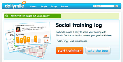 Dailymile – Training is more fun with friends