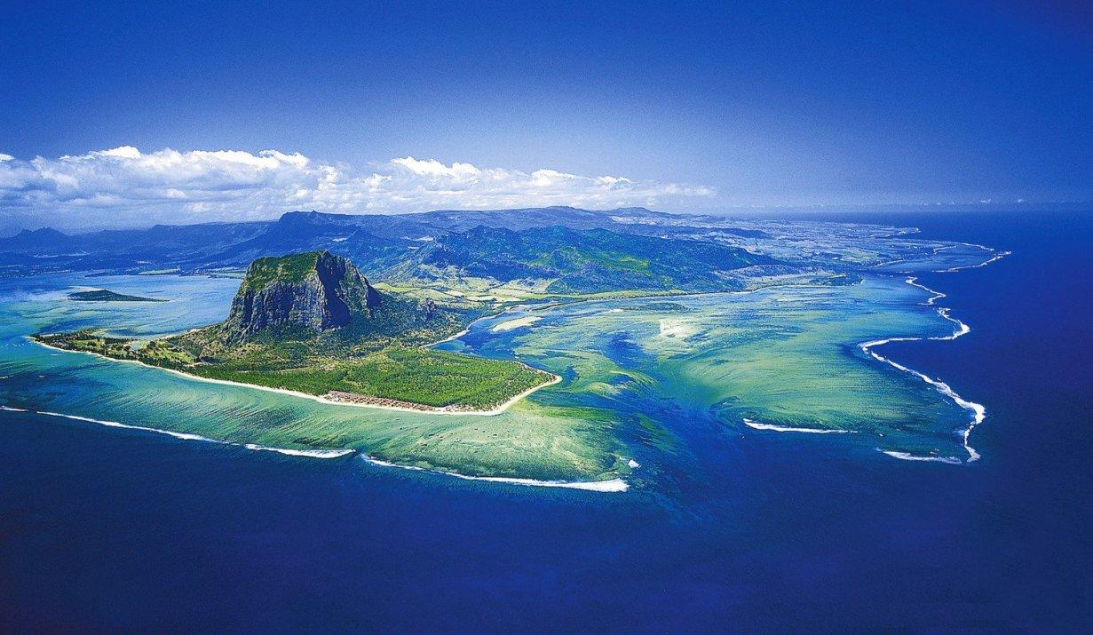top view Mauritius