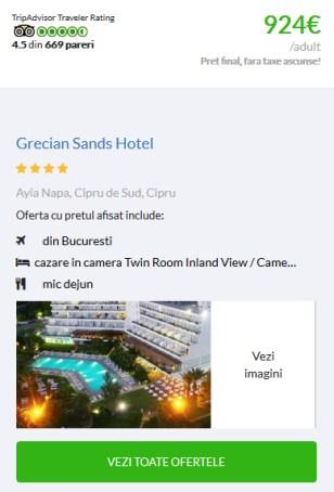 Sejur din Bucuresti Grecian Sands Hotel