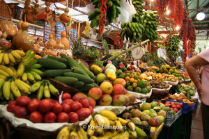 Travel to madeira to see the fresh fruit and flowers