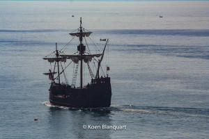 A replica of a ship of Christopher Columbus, in the Harbor of Funchal, Madeira