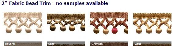 roman shades with decorative bead trim
