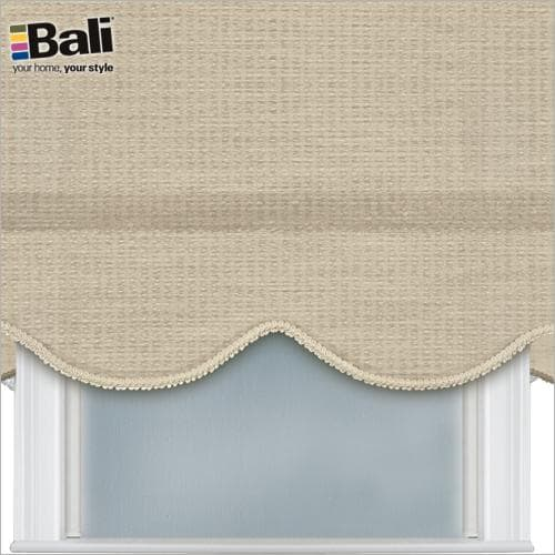Bali room darkening roller shade with gimp trim