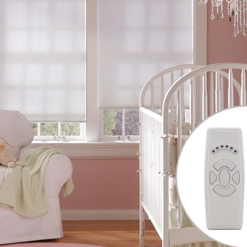 Blinds.com Brand Motorized Cellular Shades for child safety