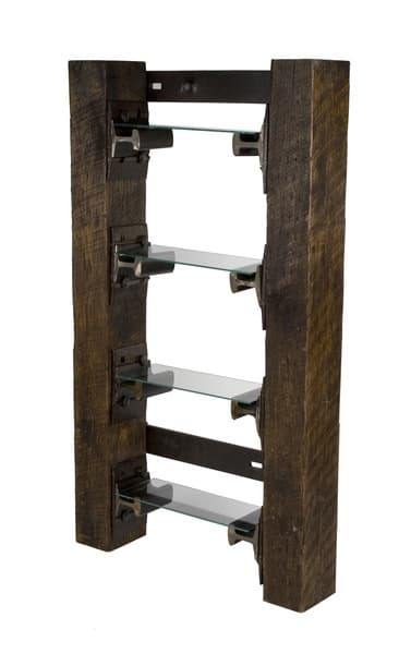 Railroad tie bookshelf