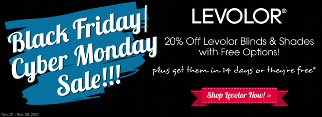 Blinds.com Black Friday deals- 20% off Levolor