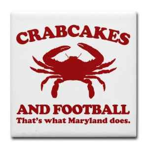 crabcakes and football