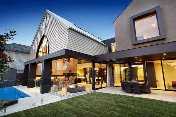 Anglican Church turned sleek Contemporary home