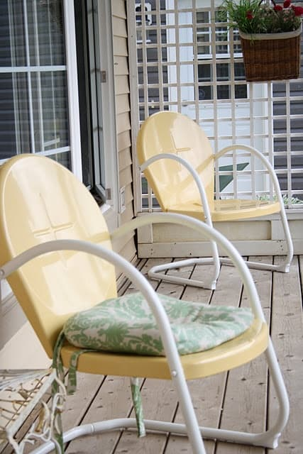 Vintage metal patio chair