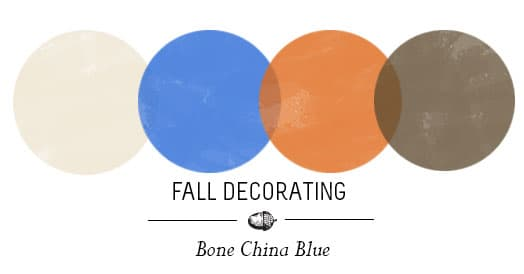 Fall Decorating China Blue