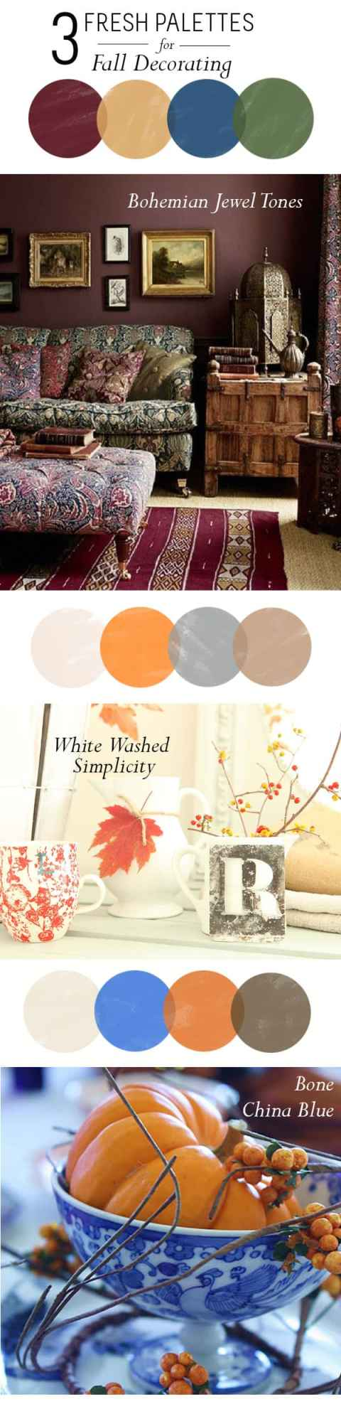 Fall decorating colors