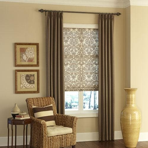 Blinds.com Easy Drapery Panels and Classic Roman Shades