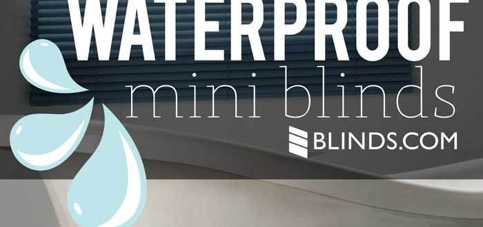 Waterproof mini blinds Blinds.com