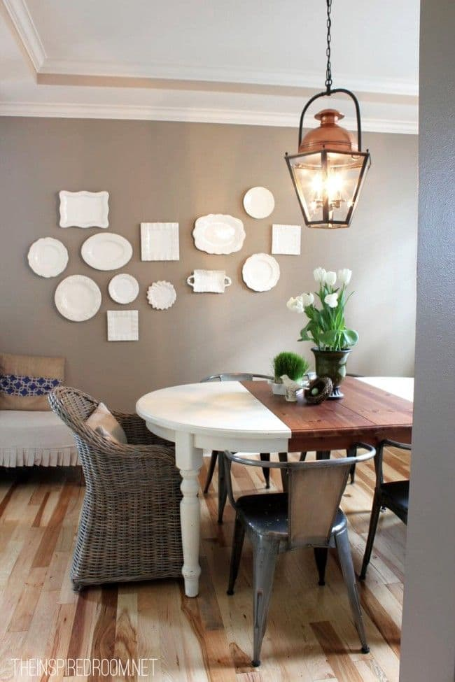 White Plate wall