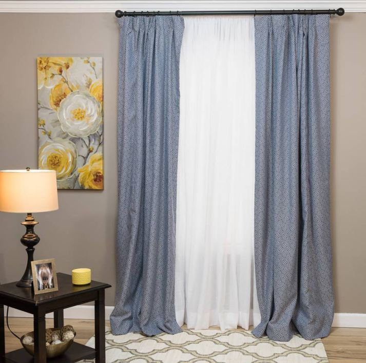 6 steps to layering draperies like a pro the finishing touch. Black Bedroom Furniture Sets. Home Design Ideas