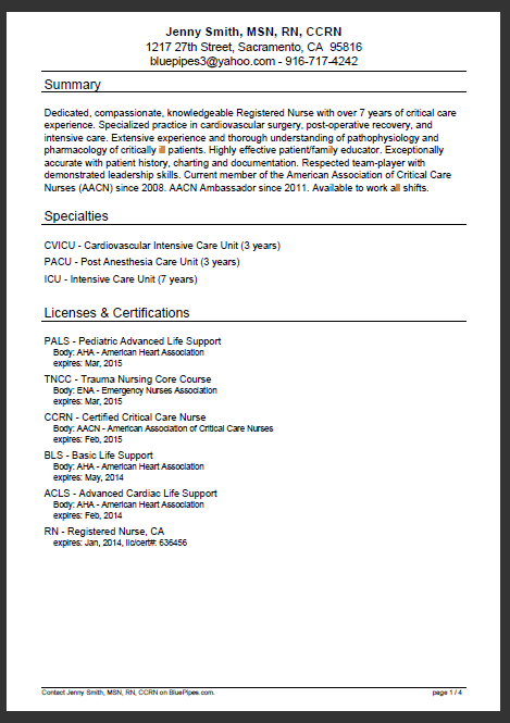 example resume for travel nurse travel nurse jobs in california nursing jobs premier page 1 of