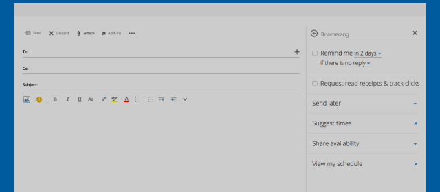 Boomerang for Outlook Gets Read Receipts, Ribbon Integration, and More!