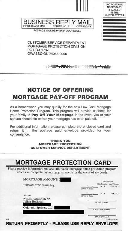The Mortgage Protection sleaze  Algorithms for the masses - julian