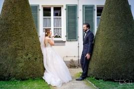 Traumhaftes Brautshooting mit dem Hochzeitsfotografen in der Orangerie Ansbach.