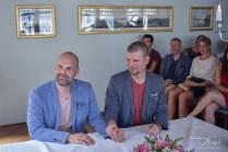 Hochzeitsfotograf begleitet die Trauung/Verpartnerung in Zuerich.