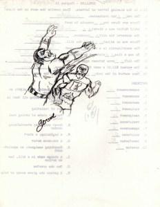 "My original superhero, ""Earthquake"" battling some kind of Gene Simmons alien I made up."