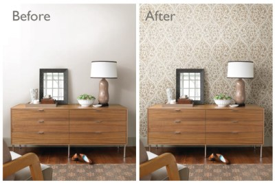 Before & After Room Makeovers with Wallpaper – Brewster Home