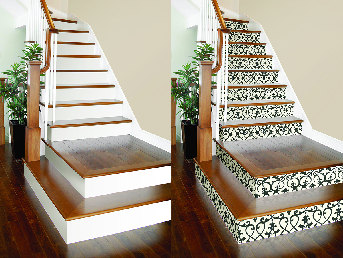 Diy Project Wallpaper On Stair Risers Brewster Home