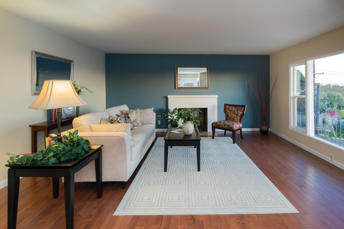 Easy Home Painting Ideas To Increase Resale Value - accent wall in living room