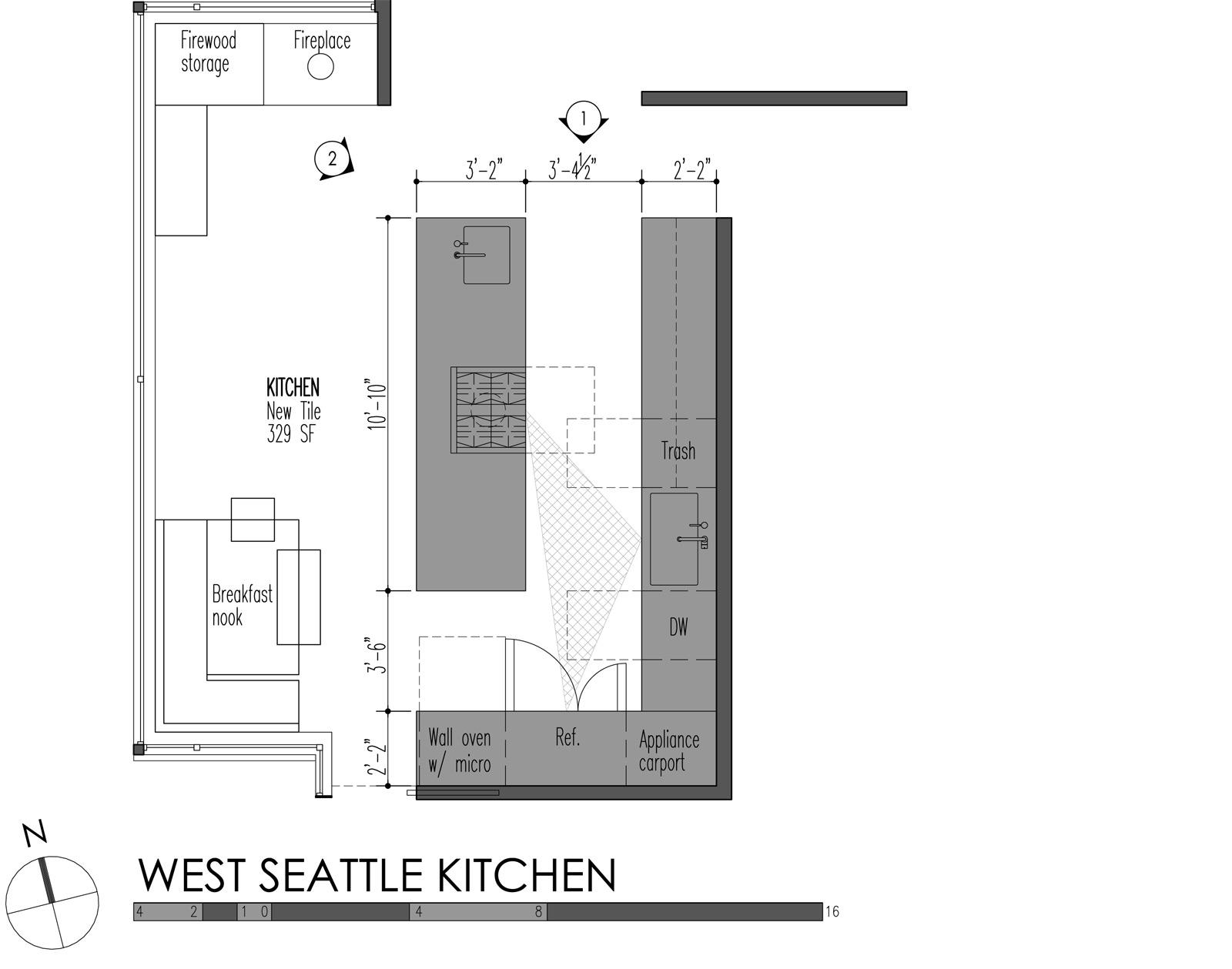 5 modern kitchen designs principles kitchen cabinet dimensions West Seattle Kitchen plan